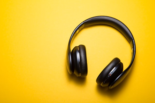 Headphones for an English listening lessons from The English Classroom